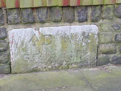 Ipswich Historic Lettering: Artillery barracks markers WD3