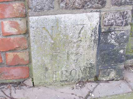 Ipswich Historic Lettering: Artillery barracks markers WD4