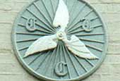 Ipswich Historic Lettering: Winged wheel plaque thumb