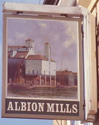 Ipswich Historic Lettering: Albion Mills small