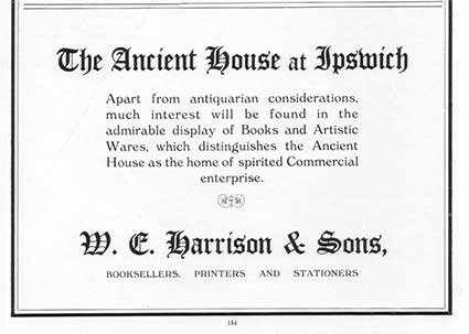 Ipswich Historic Lettering: Ancient House advertisement 1936