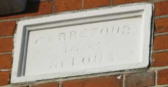Ipswich Historic Lettering: Belle Vue plaque 3