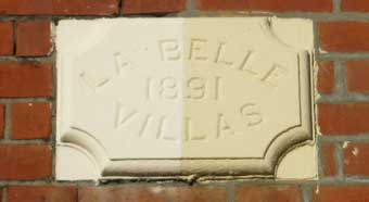 Ipswich Historic Lettering: Belle Vue plaque 5