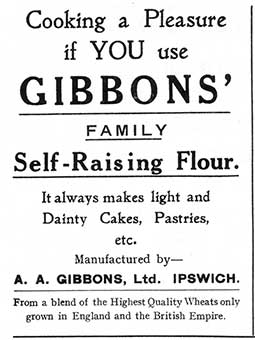 Ipswich Historic Lettering: A.A. Gibbons advertisement 1934