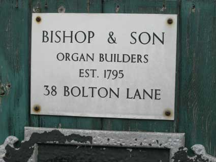 Ipswich Historic Lettering: Bishop Organ Wks 3