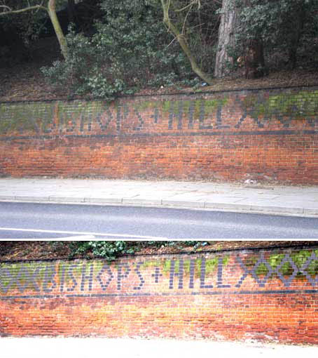 Ipswich Historic Lettering: Bishop's Hill 1