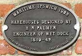 Ipswich Historic Lettering: Maritime Ipswich 82 plaque Christies