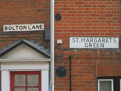 Ipswich Historic Lettering: Bolton Lane St Margarets Green signs