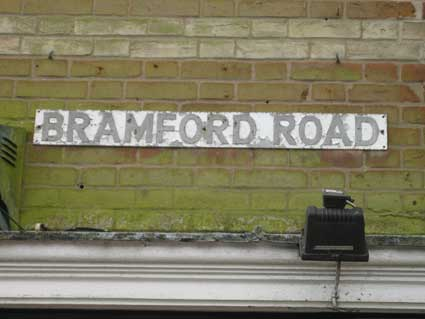 Ipswich Historic Lettering: Bramford Road sign
