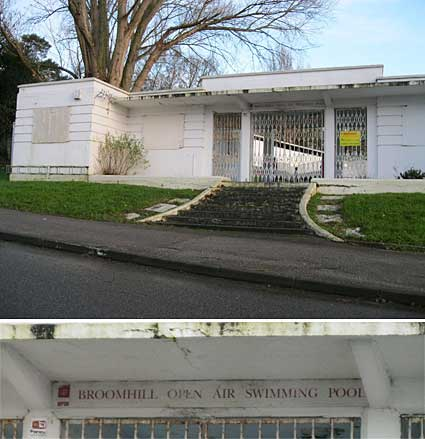 Ipswich Historic Lettering: Broomhill Pool