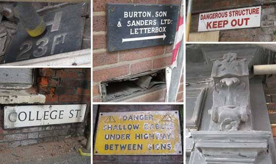 Ipswich Historic Lettering: Burton Offices signs