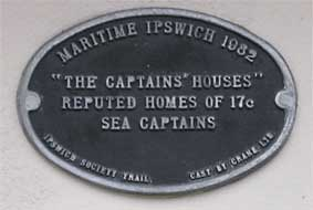 Ipswich Historic Lettering: Captains plaque small