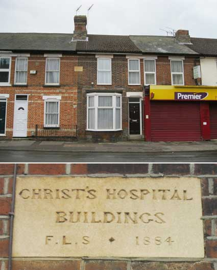 Ipswich Historic Lettering: Christ's Hospital School 1