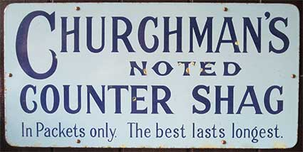 Ipswich Historic Lettering: Churchmans sign 2