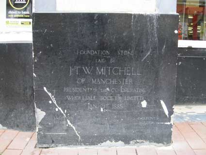 Ipswich Historic Lettering: Co-op foundation stone