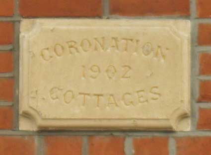 Ipswich Historic Lettering: Coronation Cottages 2