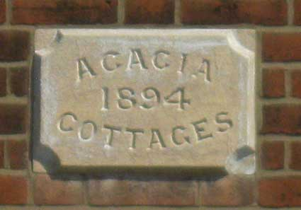 Ipswich Historic Lettering: Acacia Cottages