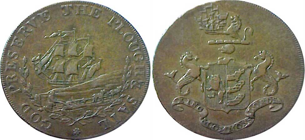 Ipswich Historic Lettering: Ipswich coin 1794