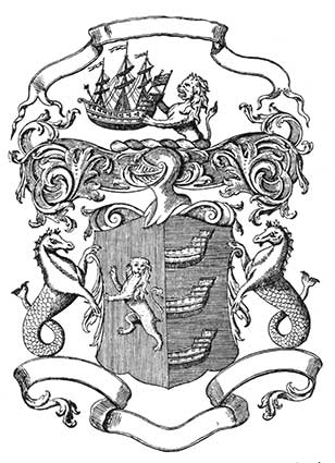 Ipswich Historic Lettering: Coat of arms engraving