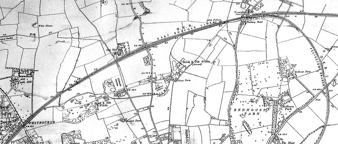 Ipswich Historic Lettering: Dales brickworks map