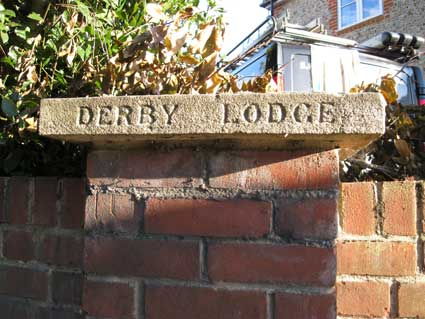 Ipswich Historic Lettering: Derby Lodge 1