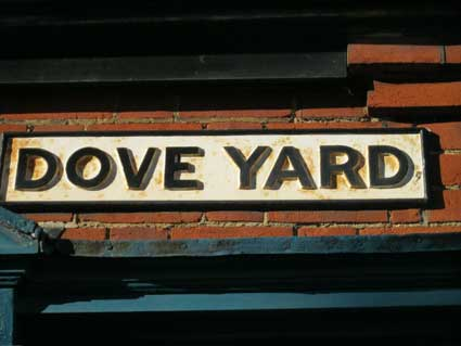 Ipswich Historic Lettering: Dove Yard sign 2