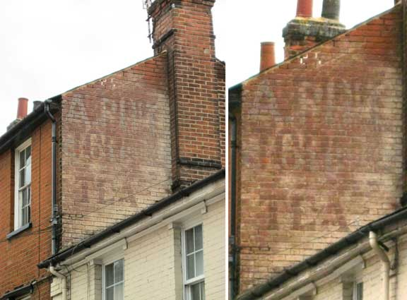 Ipswich Historic Lettering: Drink Topall Tea 2