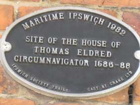 Ipswich Historic Lettering: Thomas Eldred plaque