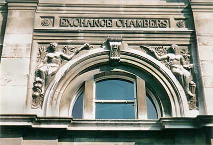 Ipswich Historic Lettering: Exchange Chambers 5