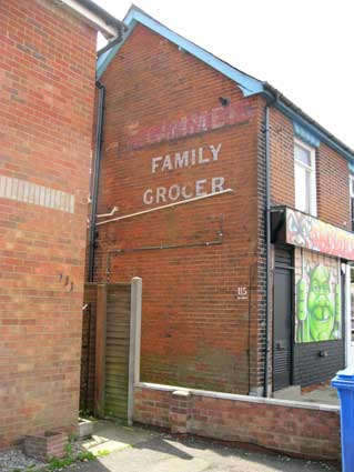 Ipswich Historic Lettering: Family Grocer 1