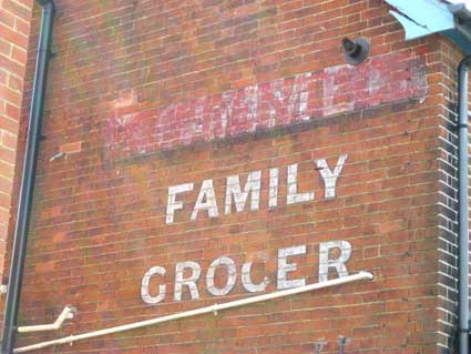 Ipswich Historic Lettering: Family Grocer 2