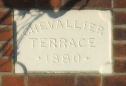 Ipswich Historic Lettering: Chevallier Terrace 2