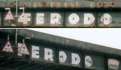 Ipswich Historic Lettering: Ferodo bridge 2