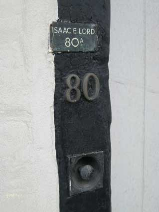 Ipswich Historic Lettering: Isaac Lord house doorbell