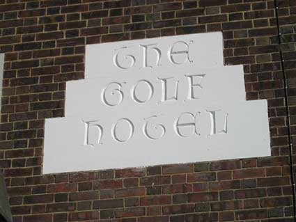 Ipswich Historic Lettering: The Golf Hotel 3a