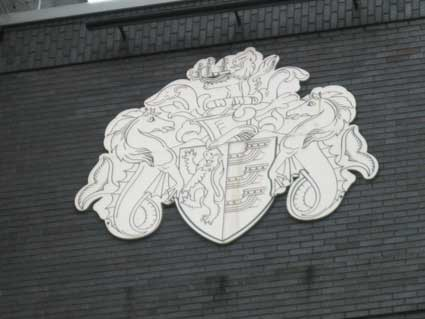 Ipswich Historic Lettering: Grafton House crest 2