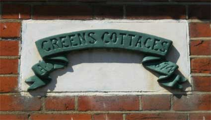 Ipswich Historic Lettering: Greens Cottages 2