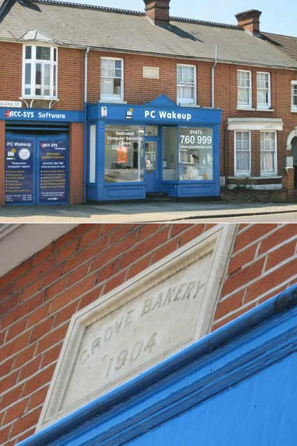Ipswich Historic Lettering: Grove Bakery 1