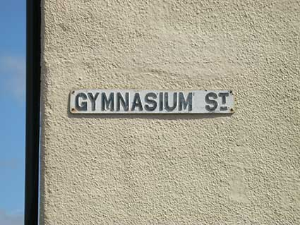 Ipswich Historic Lettering: Gymnasium sign