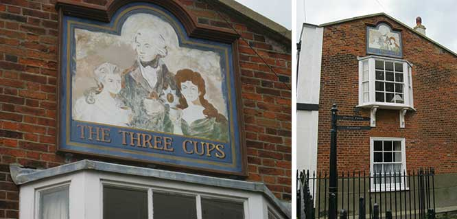 Ipswich Historic lettering: Harwich 3 Cups