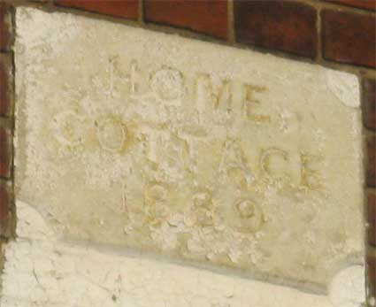Ipswich Historic Lettering: Home Cottage 2