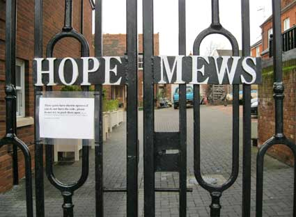 Ipswich Historic Lettering: Hope Mews 2