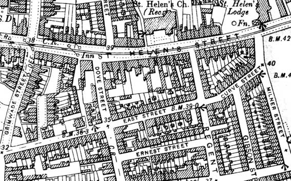 Ipswich Historic Lettering: H.W. Turner map
