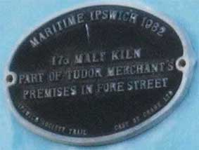 Ipswich Historic Lettering: Isaac Lord maltings plaque