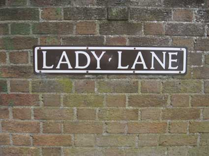 Ipswich Historic Lettering: Lady Lane sign