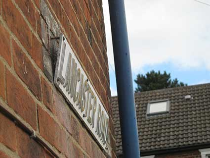 Ipswich Historic Lettering: Lancaster Rd 3