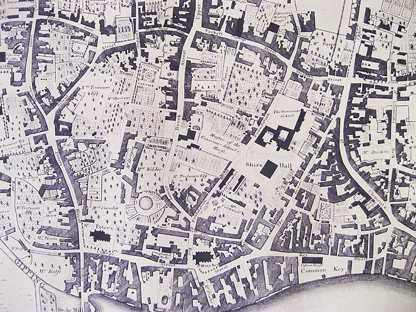 Ipswich Historic Lettering: Map detail 1778