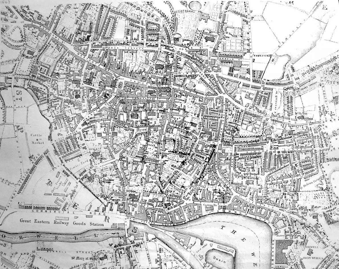 Ipswich Historic Lettering: map 1867