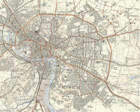 Ipswich Historic Lettering: map 1937 thumb