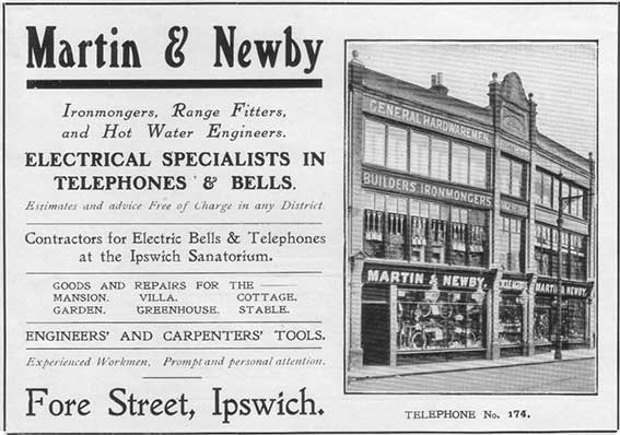 Ipswich Historic Lettering: Martin & Newby 1912